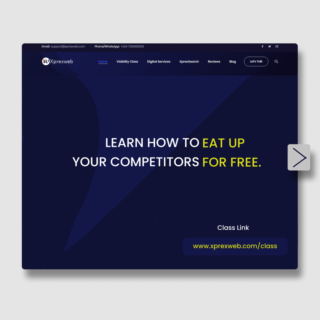 Xprexweb Free Training on Online Visibility